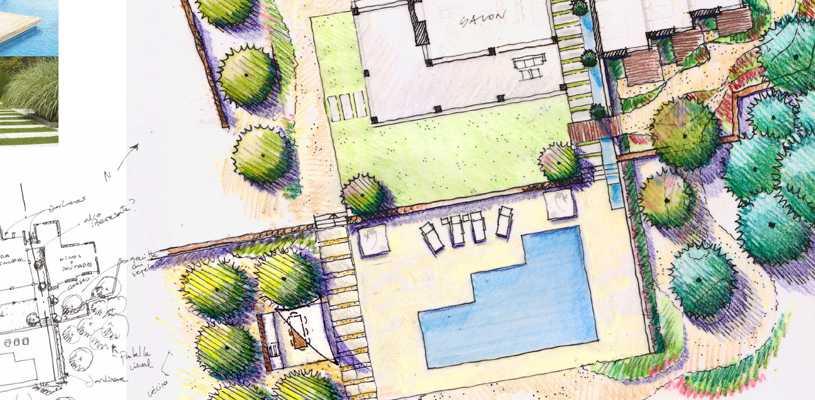 Ejecución de planos de paisajistas - vivero Kirken